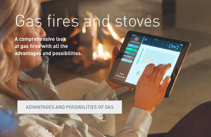 Gas fires and stoves. A comprehensive look at gas fires with all the advantages and possiblities. Advantages and possibilities of gas.