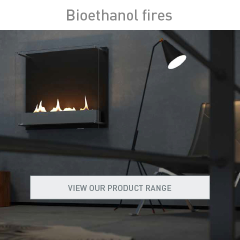 Bioethanol fires, view our product range.
