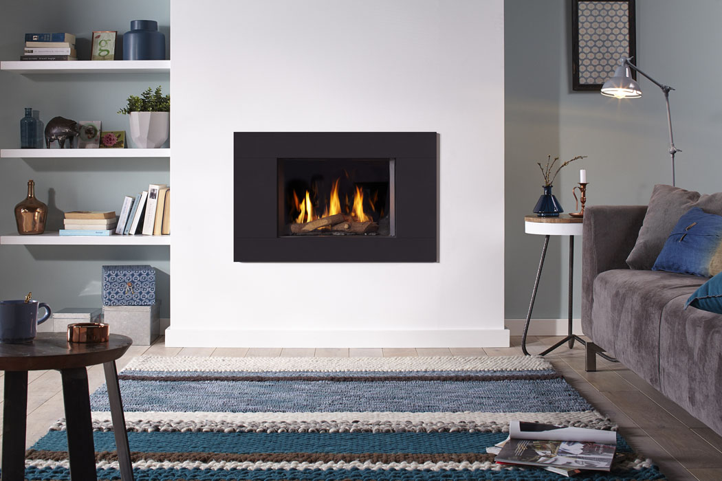 Dru Global 55 Cf Modern Simple 55cm Wide Conventional Flue Gas Fire